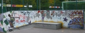 Graffitikunst, legal, Graffitiwand