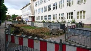 Arndt-Schule Beginn der Erdarbeiten