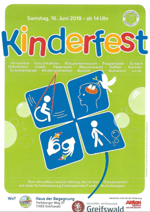 Plakat Integratives KInderfest 2018